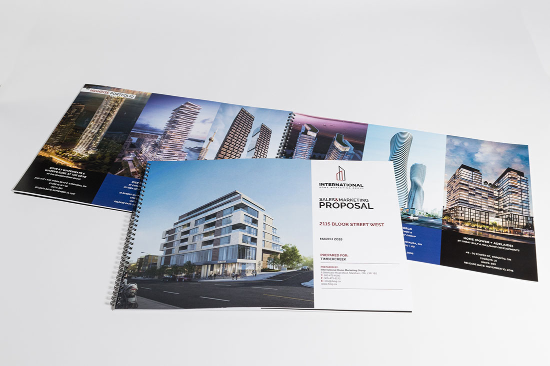 International Home Marketing print sample
